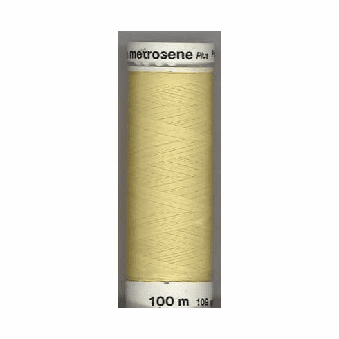 Mettler Metrosene Polyester Thread, 100m, Color #1412 Lemon Frost