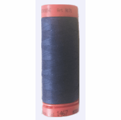 Mettler Metrosene Polyester Thread, 100m, Color #1467 Prussian Blue