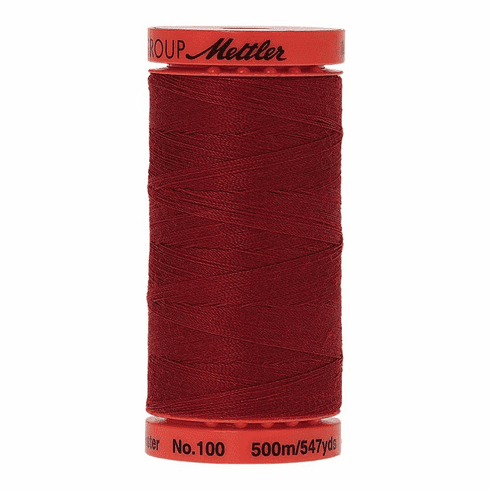 Mettler Metrosene Polyester Thread, 500m, Color #0105 Fire Engine
