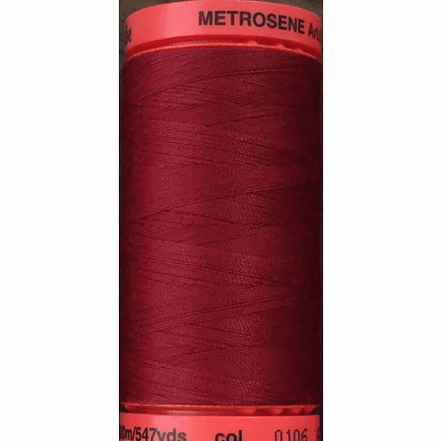 Mettler Metrosene Polyester Thread, 500m, Color #0106 Winterberry