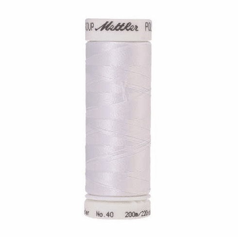 Mettler Polysheen Embroidery Thread Color #0017 Paper White