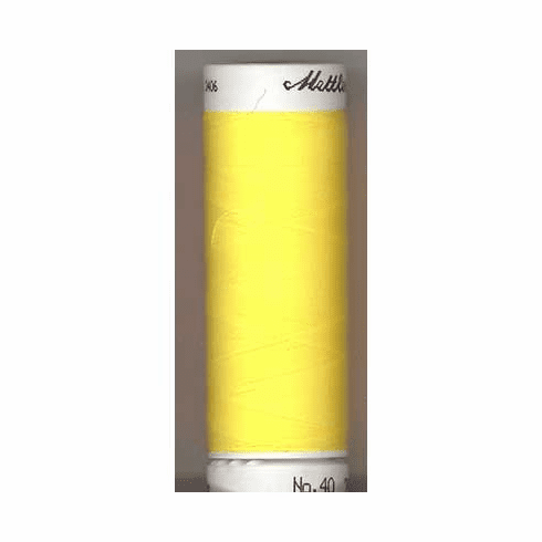Mettler Polysheen Embroidery Thread Color #0310 Yellow 800M