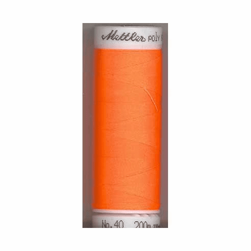 Mettler Polysheen Embroidery Thread Color #1106 Orange 800M