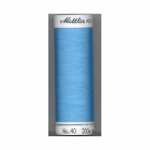 Mettler Polysheen Embroidery Thread Color #3910 Crystal Blue 800M