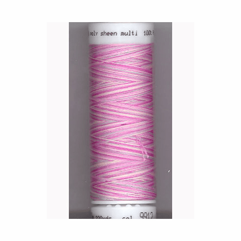 Mettler Polysheen Embroidery Thread Color #9912 Plum Pourri 800M