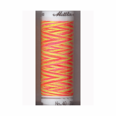 Mettler Polysheen Embroidery Thread Color #9914 Sporty Neons 800M