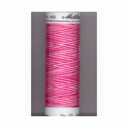 Mettler Polysheen Embroidery Thread Color #9923 Lipstick Pinks 800M
