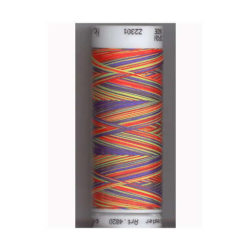 Mettler Polysheen Embroidery Thread Color #9981 Glowing Brights