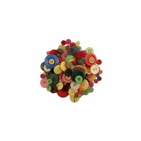 Mixed Color Grab Bag Buttons