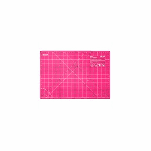 "Olfa 12"" x 18"" Fairy Floss Pink Cutting Mat with grid"