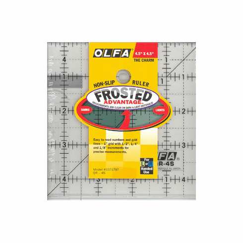 "Olfa Quilting Square Ruler 4.5"" x 4.5"""