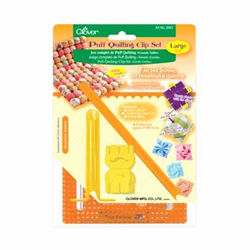 """Puff Quilting Clip """"Starter Set"""" - Large Size (Approx. finished size 6 cm)"""