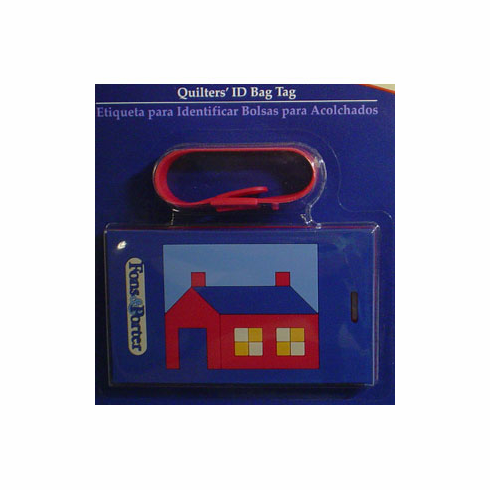 Quilter's Bag ID Tag, Log House Design