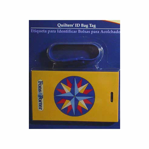 Quilter's Bag ID Tag, Star Design