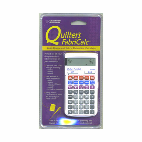 Quilter's Fabric Calculator - free tutorial DVD included