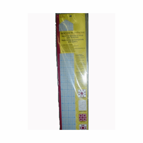 """Quilter's See-Thru Drafting Ruler with Grid Lines 2"""" x 18"""""""