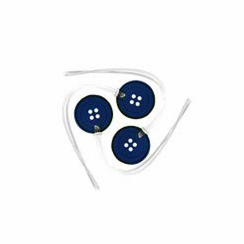 Quilter's Tool Id Tags, Blue Button Shape, 3 count
