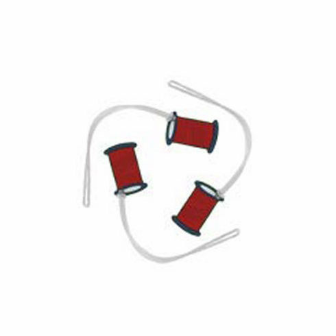Quilter's Tool Id Tags, Red Thread Spool Shape, 3 count