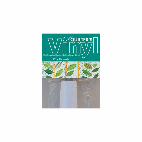 """Quilter's Vinyl Craft Pack - 16"""" x 1.5 yard roll Ideal for Appliqué Overlays, Quilting Designs & Crafts"""
