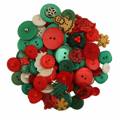 Santa's Grab Bag Buttons