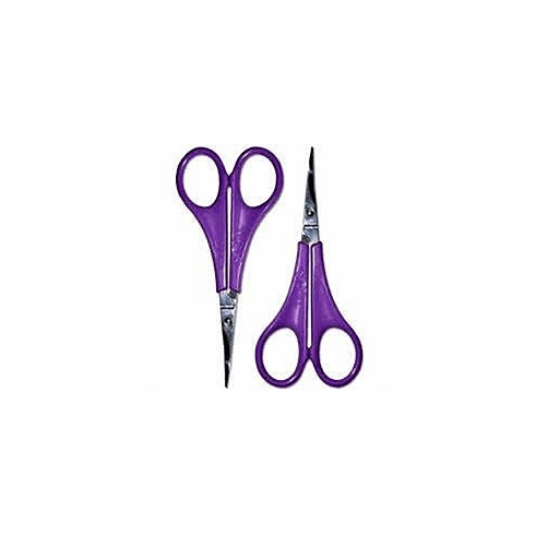 "Sassy Embroidery Scissors Set, 4"": 1 pair Curved & 1 pair Straight"