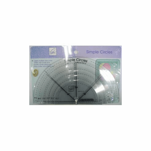 Simple Circle Rulers, 6 Convenient Sizes Rulers