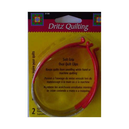 Soft Grip Oval Quilt Clips