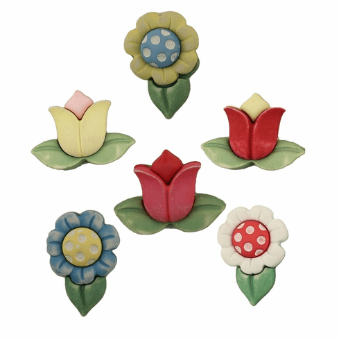 Spring Flowers Buttons
