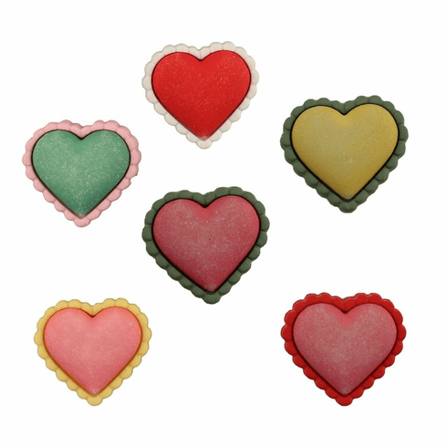 Spring Hearts Buttons