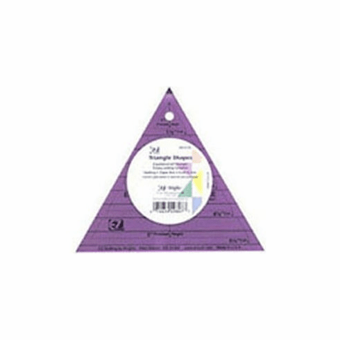 Triangle Shapes Rotary Cutting Acrylic Template - Purple Colour