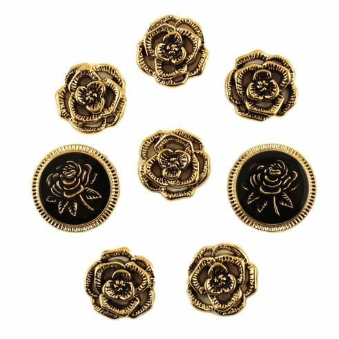 Victorian Rose Buttons