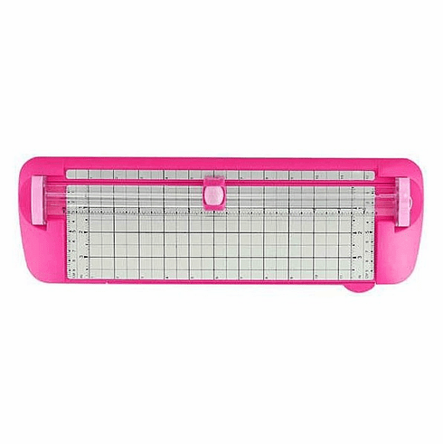 """Westcott 12"""" Titanium TrimAir Trimmer with 10.5"""" Swing Out Ruler, Narrow Body, Pink"""