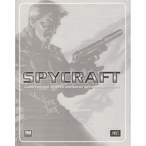 AEG Spycraft RPG Game Control Screen and Agent Record Sheet Pack