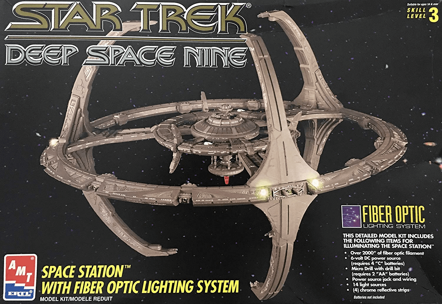 AMT/ERTL Star Trek Deep Space Nine Station Fiber Optics Lighting System Display Model Kit