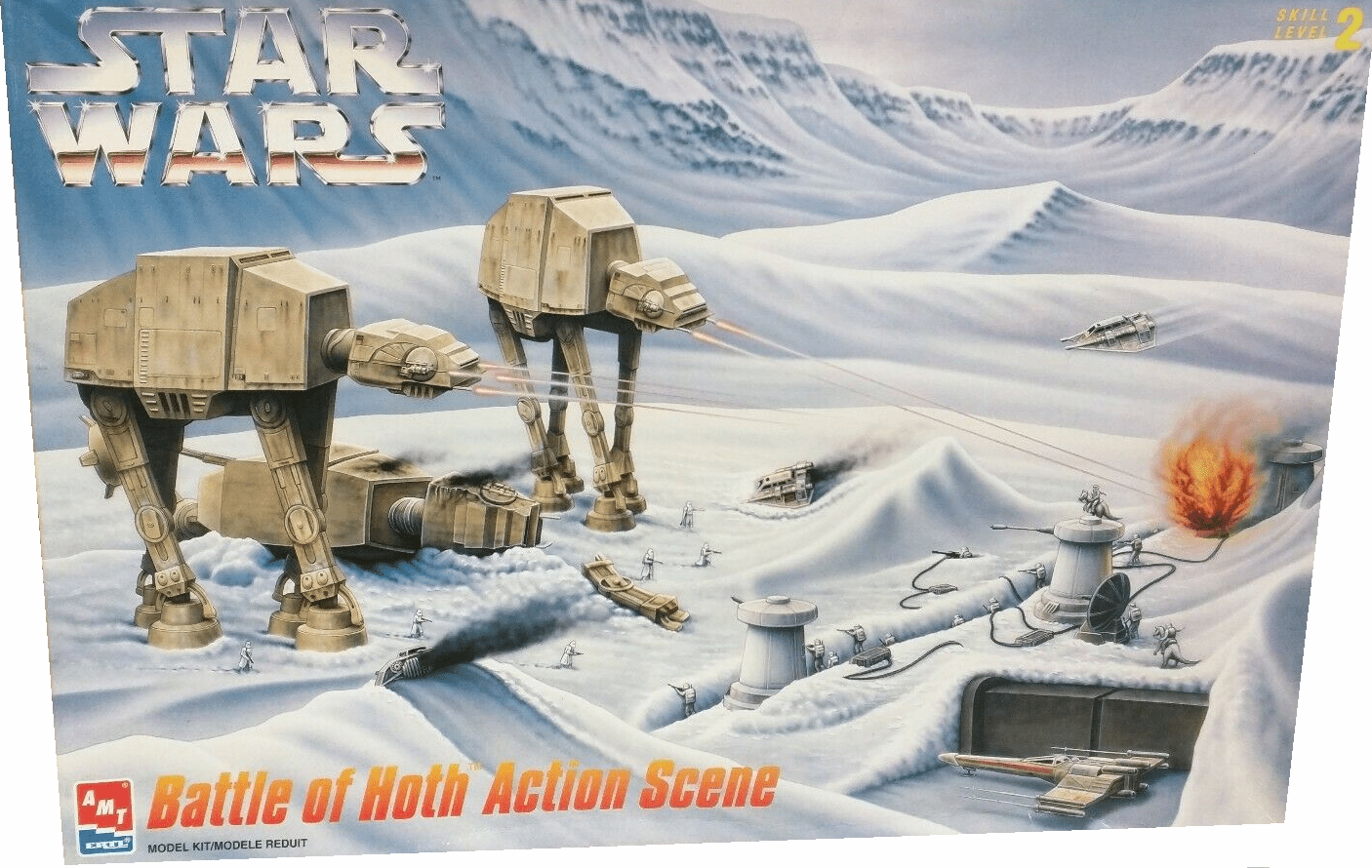 AMT/ERTL Star Wars Battle of Hoth Action Scene Model Kit