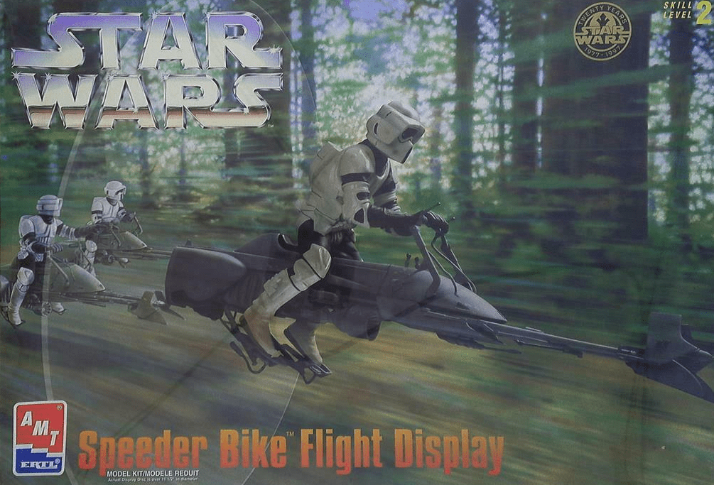 AMT/ERTL Star Wars Speeder Bike Flight Display Model Kit
