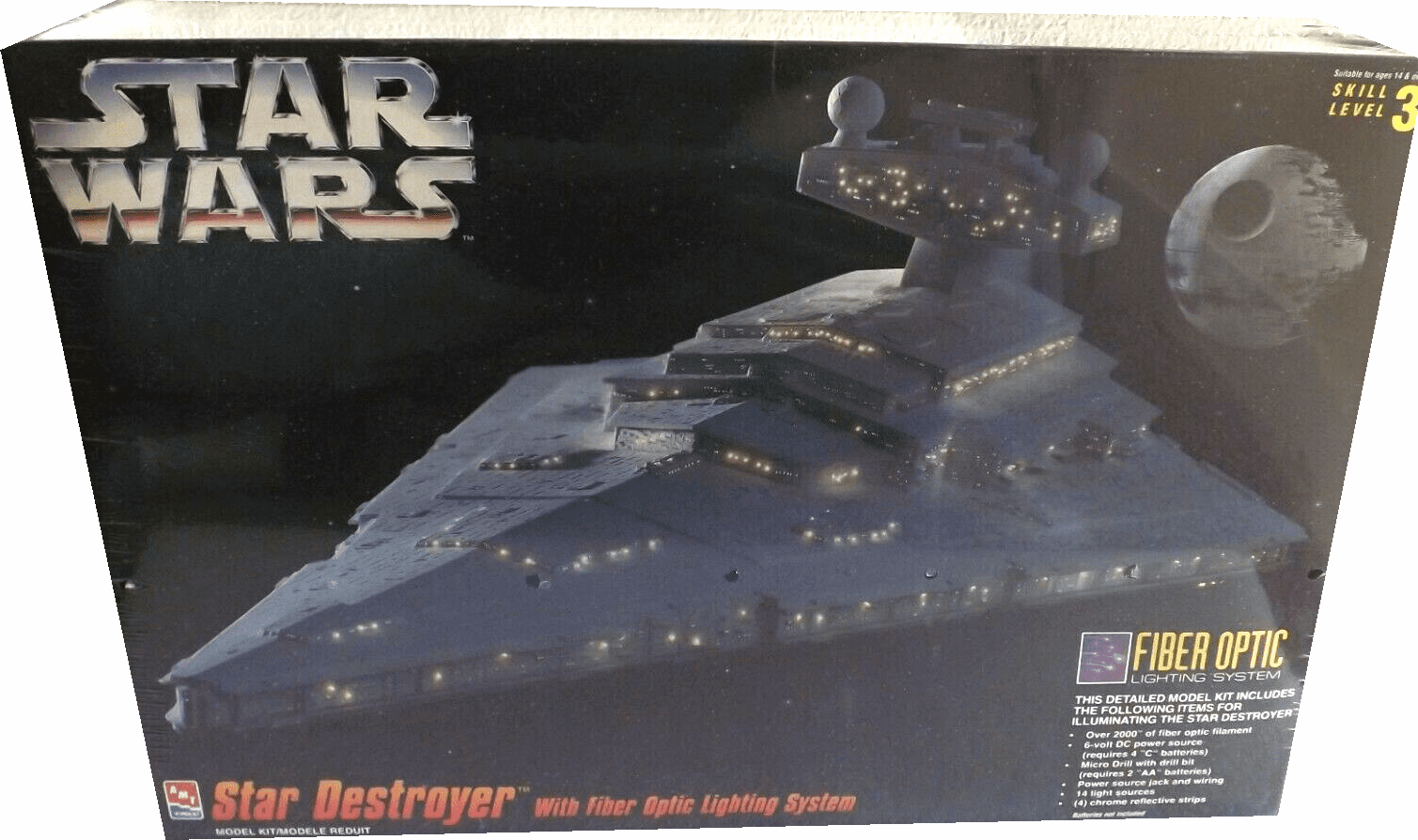 AMT/ERTL Star Wars Star Destroyer Fiber Optics Lighting System Display Model Kit