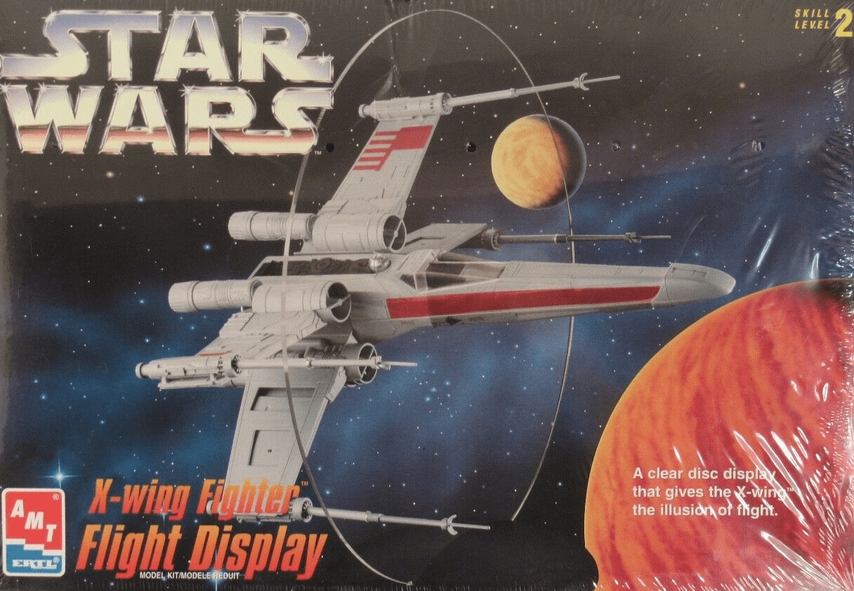 AMT/ERTL Star Wars X-Wing Fighter Flight Display Model Kit