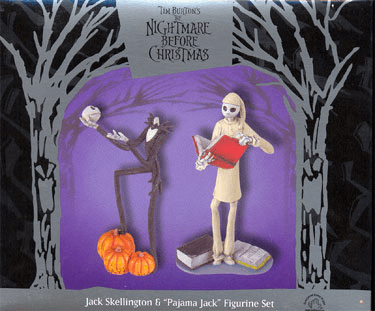 Nightmare Before Christmas Jack Skellington & Pajama Jack Figurine Set