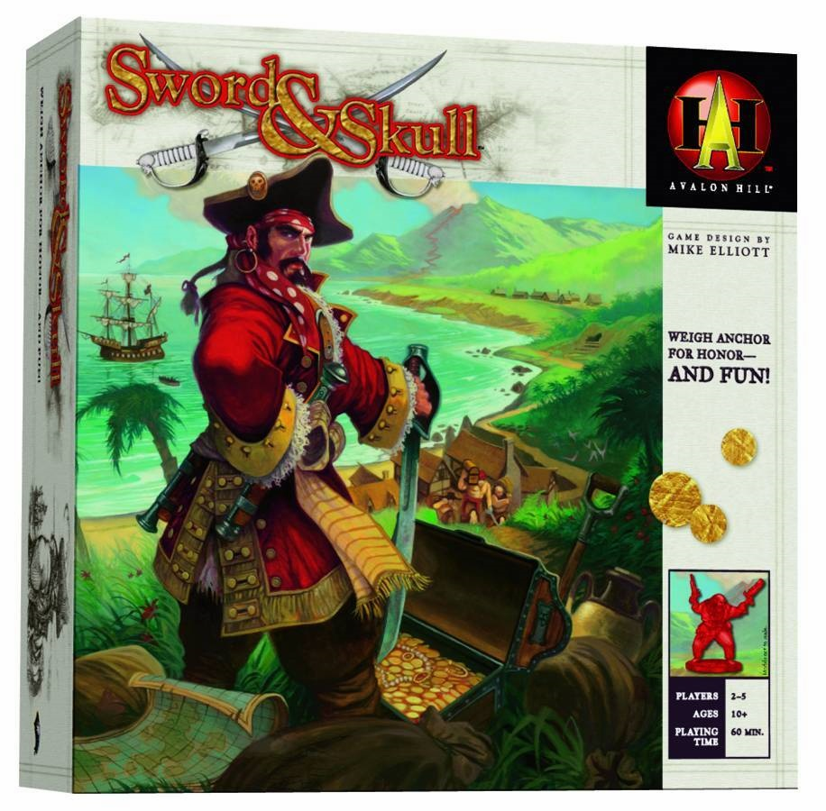 Avalon Hill Sword and Skull Board Game