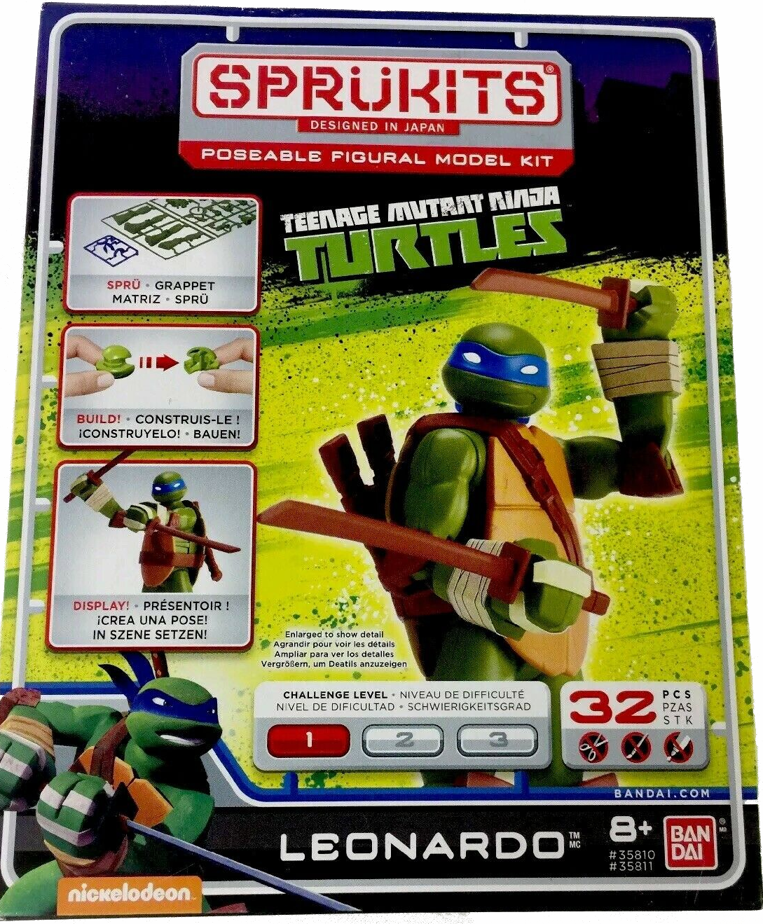 Bandai Sprukits Teenage Mutant Ninja Turtles Leonardo Model Kit