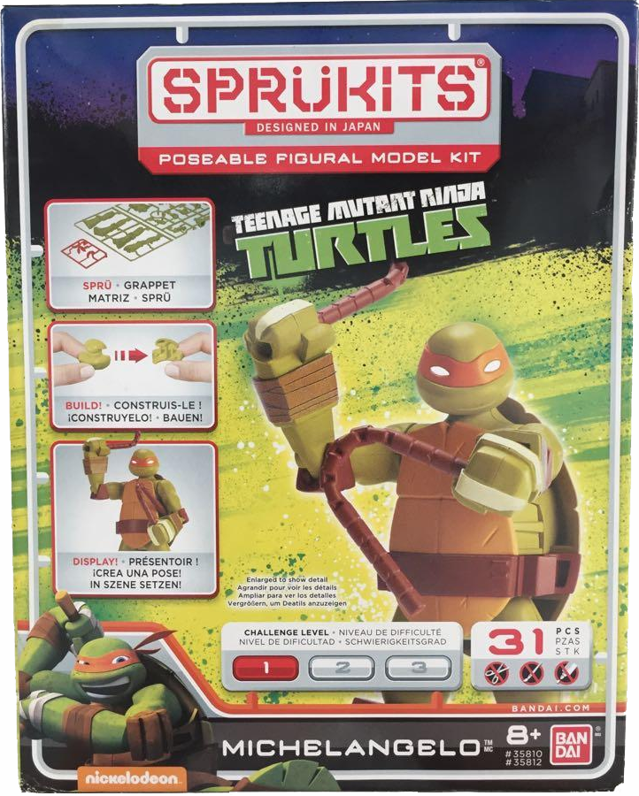 Bandai Sprukits Teenage Mutant Ninja Turtles Michelangelo Model Kit