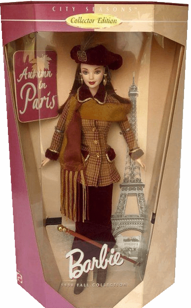Barbie 1998 Fall Collection City Seasons Autumn in Paris Doll