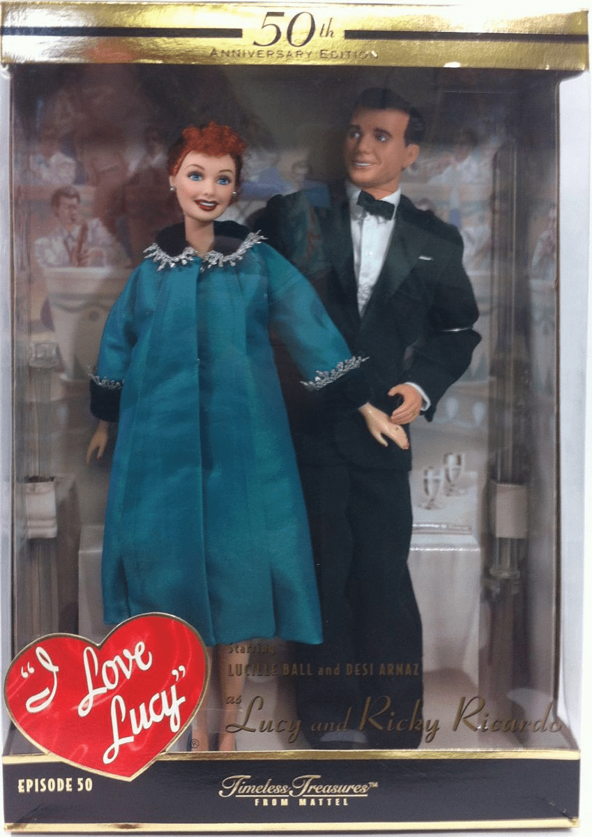 Barbie I Love Lucy 50th Anniversary Edition Gift Set