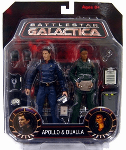 Battlestar Galactica Apollo and Dualla Two Pack Action Figure Set