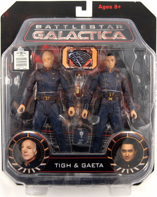 Battlestar Galactica Saul Tigh and Felix Gaeta Two-Pack Figure Set