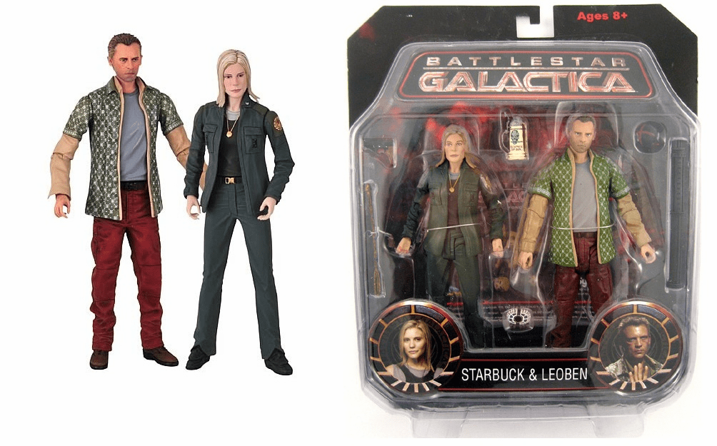 Battlestar Galactica Starbuck & Leoben Action Figure Set