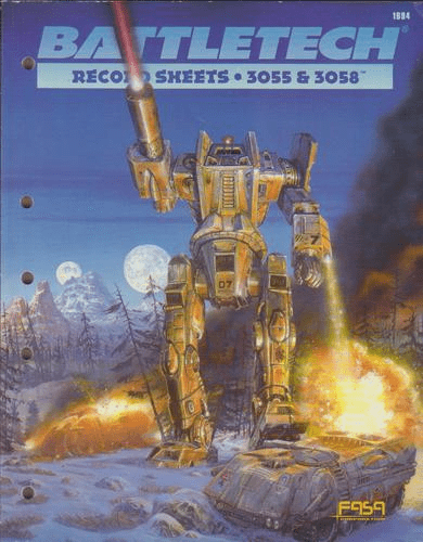 Battletech Record Sheets 3055 & 3058