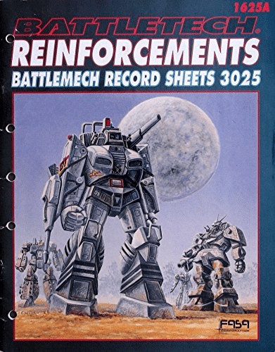 Battletech Reinforcements Battlemech Record Sheets 3025