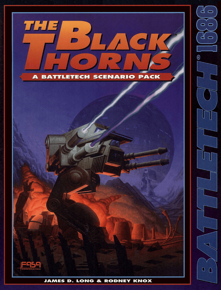 Battletech The Black Thorns RPG Book